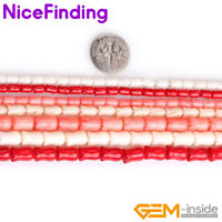 """Rose Carved Flower Coral Gemstone Loose Beads For Jewelry Making 15"""" Color Pick"""
