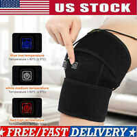 Electric Knee Warmer Heated Pad Relief Pain Arthritis Heating Therapy Wrap Brace