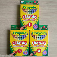 3 x NEW - 8 CRAYOLA COLOUR CRAYON SETS - Childrens Art Craft - 3 x CRAYONS PACKS