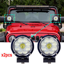 Chrome 5.5 inch Round 45W CREE led work lights 4x4 Offroad led driving Lights x2