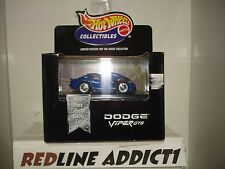 Hot Wheels 100% Black Box Collectibles Dodge Viper GTS (Red/White/Blue)