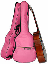 Pink Guitar Case Gig Bag for Acoustic and Classical Guitars