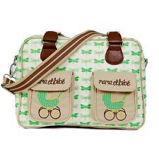PINK Lining Mama et Bebe VERDE Libellule Baby Cambio Pannolino Diaper Bag