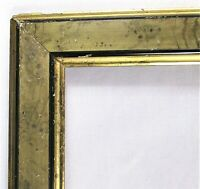 "ANTIQUE Fits 9"" X 10"" Black & GOLD GILT WOOD PICTURE FRAME FINE ART VICTORIAN"