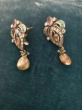 semi-precious stones (amethyst)+silver-Impress ive Chandelier type Earrings w.