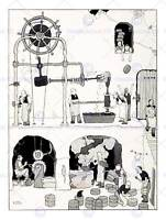 THE MAN HEATH ROBINSON ART PRINT POSTER PICTURE HP1098