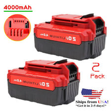 2 Pcs 20V Max 4.0Ah Li-Ion Battery For Porter Cable Pcc685L Pcc680L Power Tools