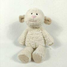 "Mary Meyer Cream Ivory White Stuffed Plush Sheep Lamb Beanbag Floppy Soft 14"""