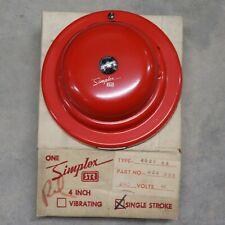 Simplex Str 4027 44 4 Red Single Stroke Bell Part 624 238 240v Ac Nos W Mount