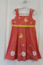 Girl Size 6 Spring Summer Fall Sundress Blueberi Boulevard Butterfly Peach-Pink