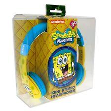 ! nuevo! Auriculares Bob Esponja (edad 3-7 años) Niños Auriculares (SB0436)