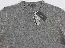 Men's DANIEL CREMIEUX Lt Heather Gray Crew Neck CASHMERE Sweater XL XLarge NWT