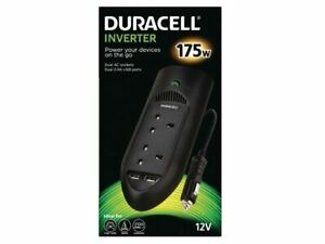Duracell 175W Twin UK Socket Inverter power adapter/inverter DRINV15-UK