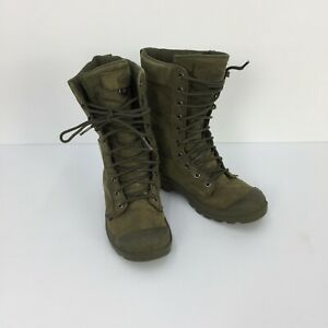 Palladium Pampa Tactical Leather Water Proof Olive Green Women Combat Boots SZ 7