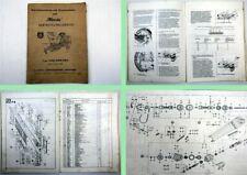 Hassia KRS KRB KRU Serie F6 Betriebsanleitung Ersatzteilliste 1966