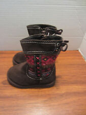 TODDLERS LITTLE GIRLS BROWN SUEDE BOOTS SIZE 12