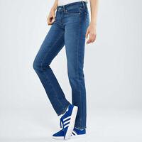 Levi's 714 Women's Slim Fit Straight Mid Rise Blue Jeans Size W23 L32 / W26 L30