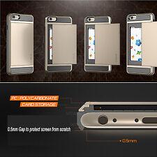 New Armor Case Cover Slide Credit Card Slot Holder Protection Fr iPhone 6 6s 4.7