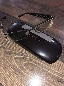 GUCCI Gold Embedded Pattern Square Designer Glasses (rare!) Prescription