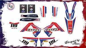 GASGAS EC250/300 GRAPHICS KIT 2010-2011 Customised motocross graphics