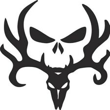 hunting skull sticker vinyl decal for car and others FINISH GLOSSY