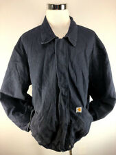 1e638c336dbc Carhartt Mens Flame Resistant Duck Bomber Jacket Quilt Lined Navy 3XL Tall
