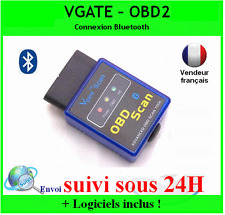 VGATE BLUETOOTH OBD2 OBDII DIAGNOSTIQUE SCANNER DIAG AUTO MULTIMARQUES ELM 327
