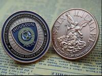 US City Houston Police Department Saint Michael Challenge Coin Art Collectible