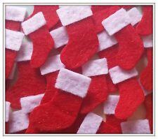 Felt Stockings. Pack of 15 Mini Christmas Craft Embellishments