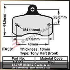 R1501102 EBC PASTIGLIE KART 10 mm RED FA501