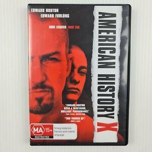 American History X DVD -Edward Norton - Region 4 - TRACKED POST