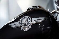 Brand NEW 2018 OEM Harley Softail Fatboy Touring Gas Fuel Tank Emblems Set