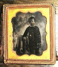 1850s Ambrotype ANTIQUE Boy Posed PORTRAIT Family PHOTO Fashion PHOTOGRAPH Child