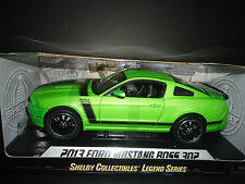 Shelby Collectibles Ford Mustang Boss 302 2013 Green SC453 1/18