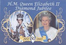 """QUEEN ELIZABETH II DIAMOND JUBILEE (PAST/PRESENT) FRIDGE MAGNET 5"""" X 3.5"""""""