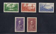 MONACO 1937 Semi Postal set of 5 (Scott B19-23) complete VF/XF MNH