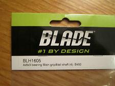 BLADE 4X8X3 BEARING MAIN GRIP AND TAIL SHAFT (4): B450 BLH1605