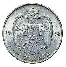 [NC] JUGOSLAVIA - 20 DINARA ARGENTO 1938 (nc4775)