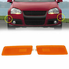 2x Front Bump Side Marker Light Signal Yellow For VW GTI/JETTA/RABBIT MK5 05-09