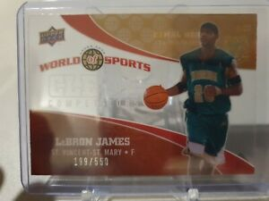 2010 UD WORLD OF SPORTS LEBRON JAMES CLEAR COMPETITORS ACETATE #CC-1. 199/550