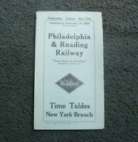 Vintage 1923 Philadelphia & Reading Lines Railroad Schedules Time Tables Booklet