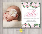Printable Photo Birth Announcement Baby Girl Floral / Thank you card