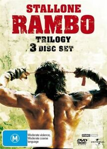 RAMBO Trilogy 1-3 [First Blood] 1+2+3 DVD Sylvester Stallone 3-DISC BRAND NEW R4