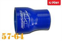 """4 Ply Silicone Straight Reducer Joiner Hose Pipe 57mm - 64mm 2.25"""" - 2.5"""" 2-1/2"""""""