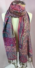 Magic Scarf Company Rose, Green, Gold Metallic Floral Women's Scarf, NWT