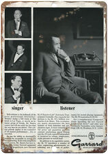 "Frank Sinatra Garrard  10"" x 7"" Reproduction Metal Sign"