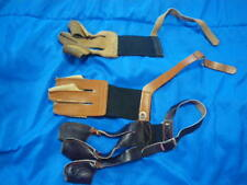 3 Pairs of Archery Leather Finger Tabs