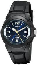 Casio Men's Analog Date 10-Year Battery Life Black Resin Watch MW600F-2AV