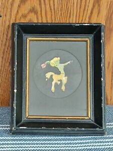 Disney Fantasia Framed Original Movie Film Cel Cutout Girl Centaur Green Yellow