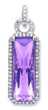 Collares y colgantes de joyería con diamantes amatista